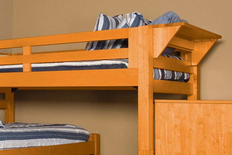Graduate Series Bed Shelf in Wild Cherry